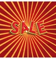 Red sale background vector image vector image