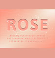 rose gold alphabet font custom type letters and vector image vector image