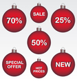 Sale Christmas ball vector image