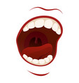 scream mouth with teeth in a shout vector image vector image