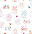 seamless pattern with dutch ornaments vector image