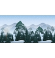 Seamless Winter Woodland Landscape vector image vector image