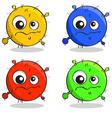 set of cartoon germs vector image