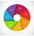 seven steps infographic circle template vector image