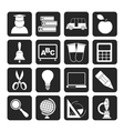 Silhouette education and school icons vector image vector image