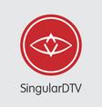 singulardtv - cryptographic currency logo vector image
