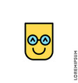 smile color icon happy laughing emotions icon vector image vector image