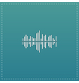 Sound wave icon - equalizer music element or vector image vector image