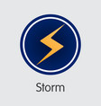 storm crypto currency storm coin vector image