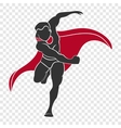 Superhero hit the right hand vector image vector image