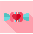 Sweet candy with heart vector image vector image