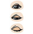 Three phases of a blinking eye EPS 10 vector image