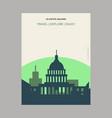 us capitol building washington united states vector image