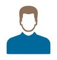 user icon avatar silhouette social symbol vector image vector image