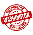 washington stamp vector image vector image