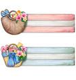 watercolor summer beach bag banners vector image vector image