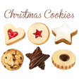watercolro high quality christmas cookies vector image vector image