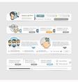 Website template design vector image vector image