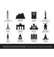 western and northern europe cities landmarks vector image
