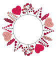 wreath is made of romantic pink herbs and trees vector image vector image