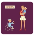 Young woman with sick child vector image vector image