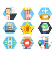 Business Office and Marketing Icons Flat vector image