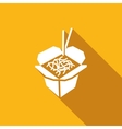 Chinese noodles icon vector image