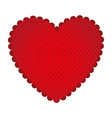 red sticker heart icon vector image