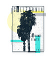 A poster on a t-shirt with palm trees of