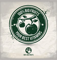 alternative bio fruit stamp vector image