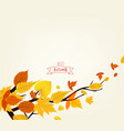 an autumn design vector image