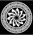 ancient round celtic scandinavian design celtic vector image vector image