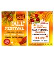 autumn festival music picnic poster vector image