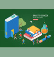 back to school books education and research vector image