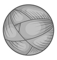 Ball of yarn icon black monochrome style vector image vector image