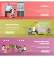 Beauty salon concept banners People in vector image