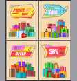 best price sale and offer vector image