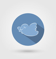 Bird icon with shadow vector image