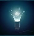 broken idea bulb background vector image vector image