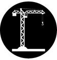 Building Tower crane icon vector image vector image