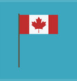 canada flag icon in flat design vector image vector image