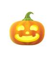 cartoon pumpkin halloween vector image vector image