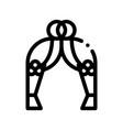 celebration wedding decoration arch icon vector image