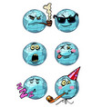 character planet earth dream humor birthday vector image