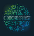 chemistry colored concept round outline vector image