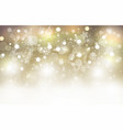christmas light gold background abstract bokeh vector image vector image