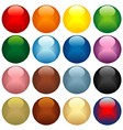 Colored Glass Spheres vector image vector image