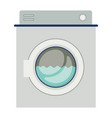 colorful silhouette of washing machine with water vector image vector image