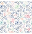 Colorful sketch travel pattern vector image vector image