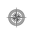 compass logo template icon vector image vector image
